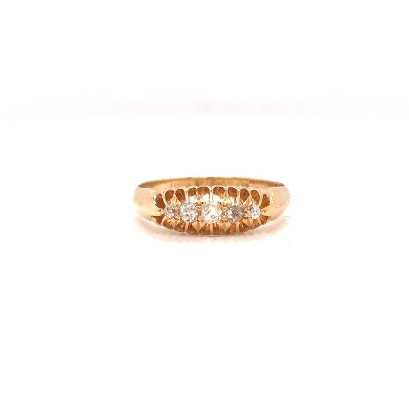 Cline Estate Gold Diamond Ring