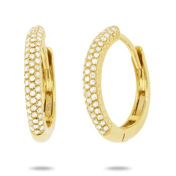 Diamond Pave Huggie Earrings