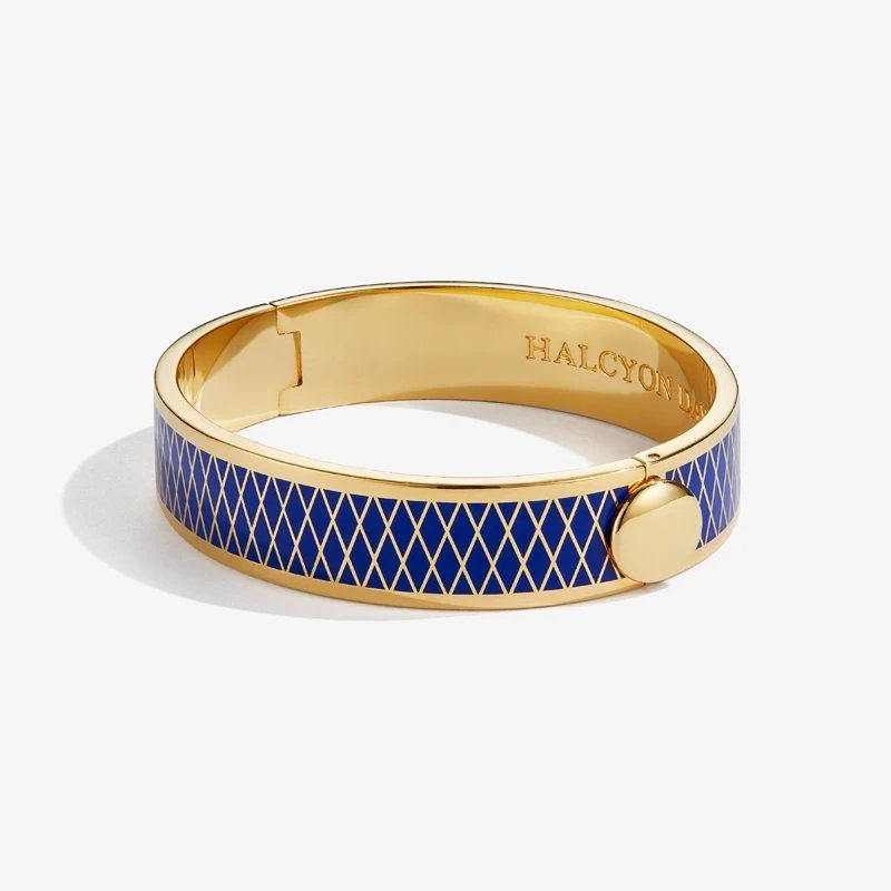 Halcyon Days  Parterre Deep Colbalt and Gold Bangle