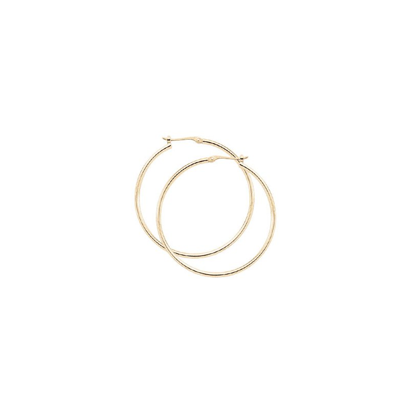 David Harvey Everyday Collection 14K Yellow Gold 30mm Tube Hoops