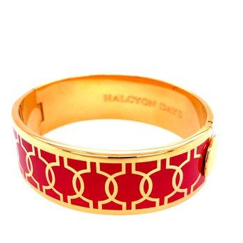 Geometric Circle Red and Gold Bangle