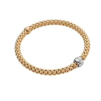 """18KT """"Solo"""" Flex Bracelet with Diamonds"""