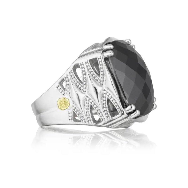 Tacori Fashion  Caissa Crescent Hematite Bold Woven Crescent Ring