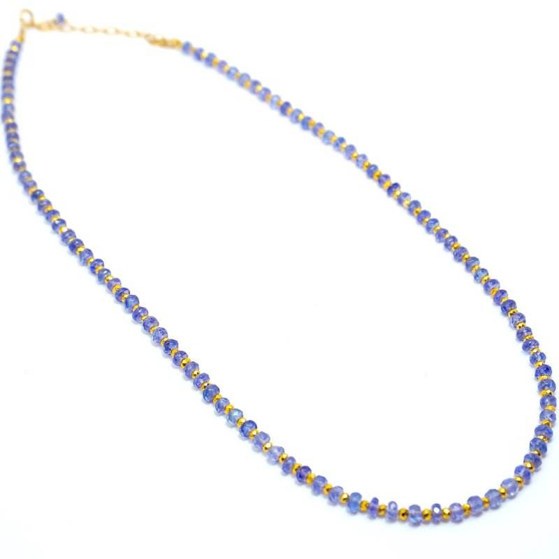 """Mined and Found Kenzie One by One Tanzanite 18"""" Necklace"""