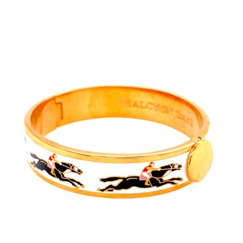 13mm GP Black & Cream Racehorse Bangle
