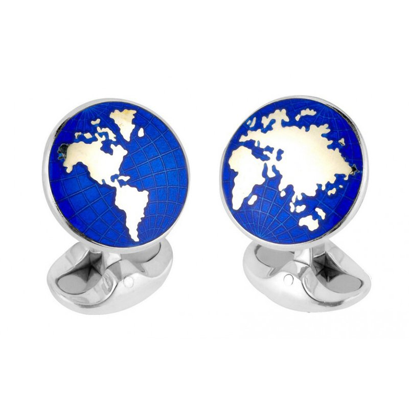 Deakin & Francis SS Enamel World Cufflinks