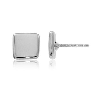 Sterling Silver 8mm Square Stud