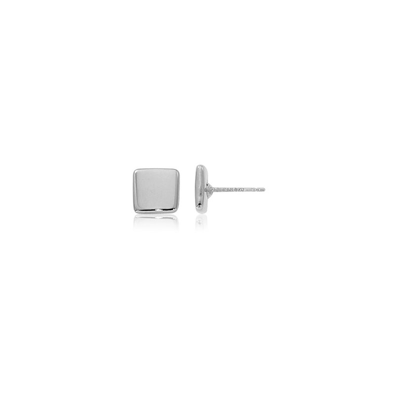 David Harvey Everyday Collection Sterling Silver 8mm Square Stud