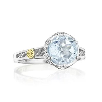Crescent Crown Petite Crescent Sky Blue Topaz Ring