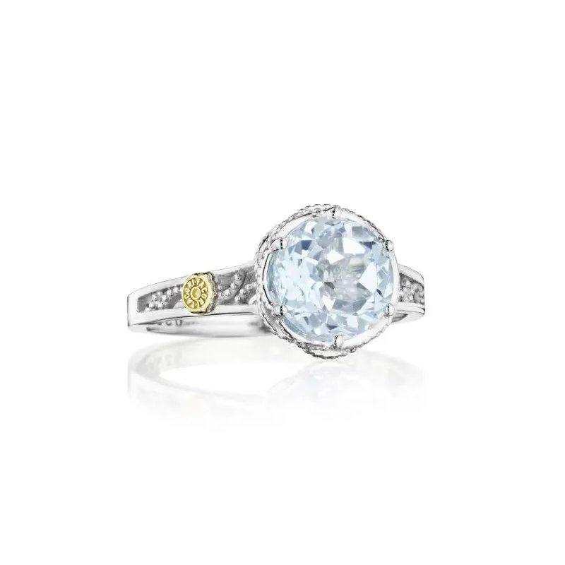 Tacori Fashion  Crescent Crown Petite Crescent Sky Blue Topaz Ring