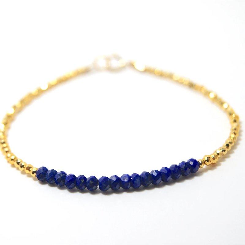 Mined and Found Kenzie Bar Lapis Bracelet