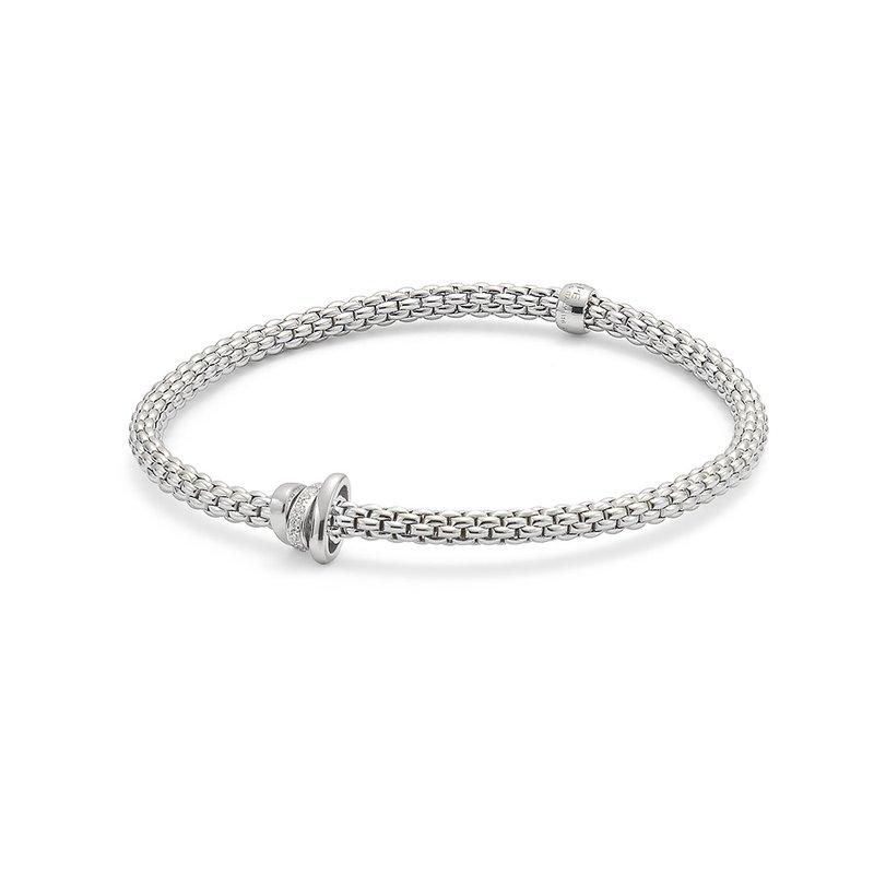 "FOPE 18KT Diamond Rondelle ""Prima"" Flex Bracelet"