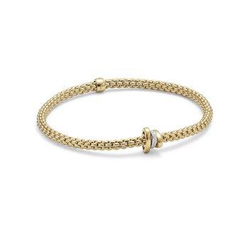 "18KT Diamond Rondelle ""Prima"" Flex Bracelet"