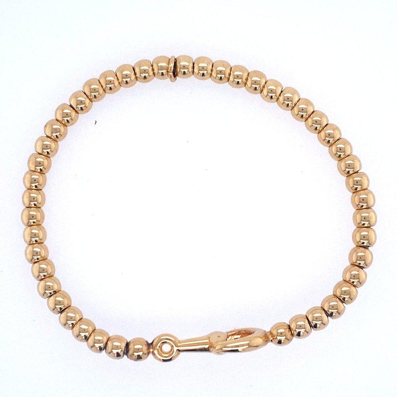 David Harvey Everyday Collection 18k Yellow Gold Beaded Horsebit Bracelet