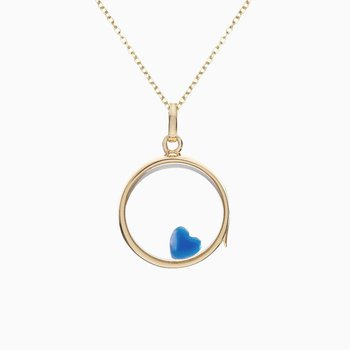Heart Mother of Pearl Enamel - With Love