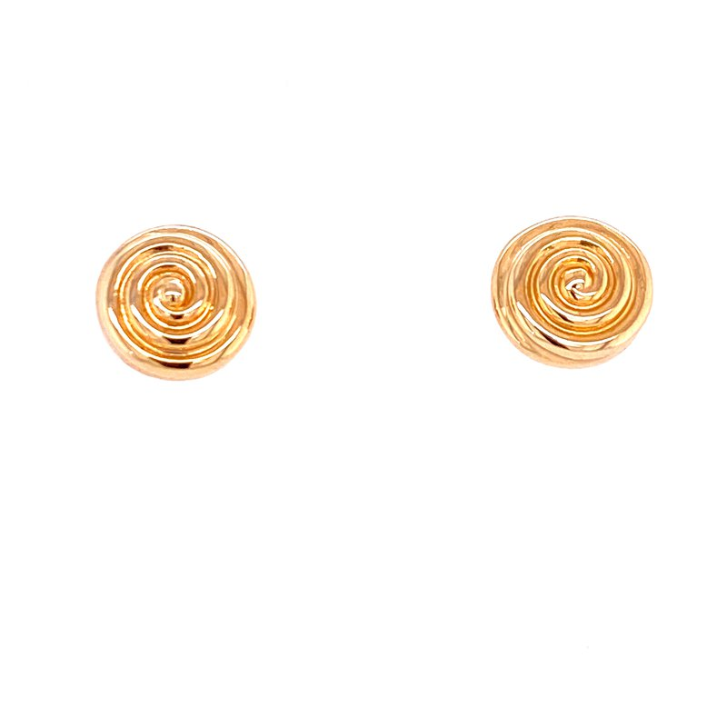 David Harvey Everyday Collection 14KY Puffed Swirl Studs