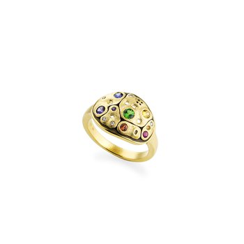 "Rainbow Sapphire ""Savoy"" Ring"