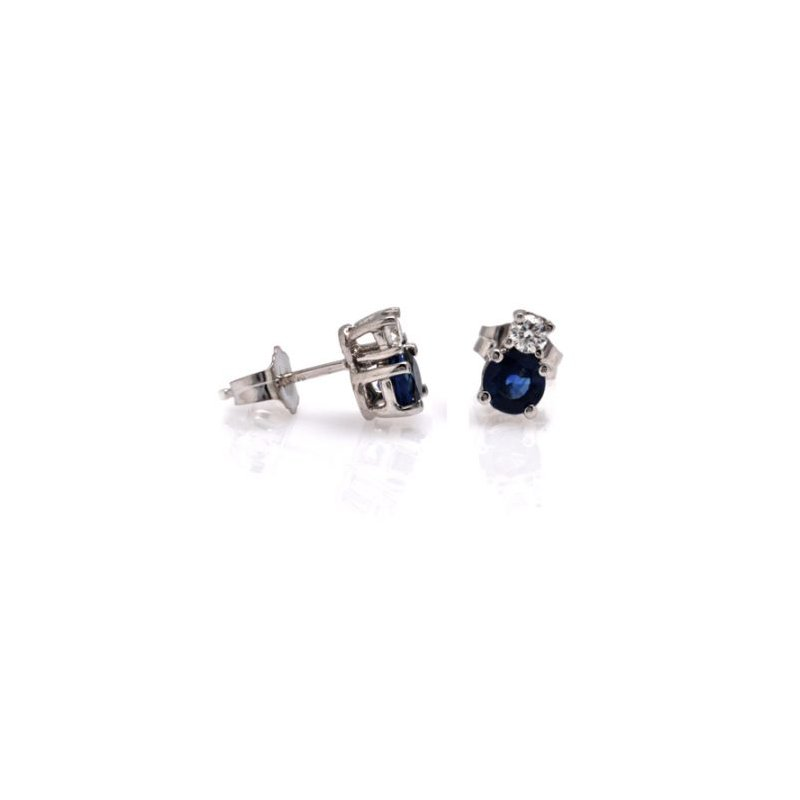 David Harvey Signature Blue Sapphire and Diamond Studs
