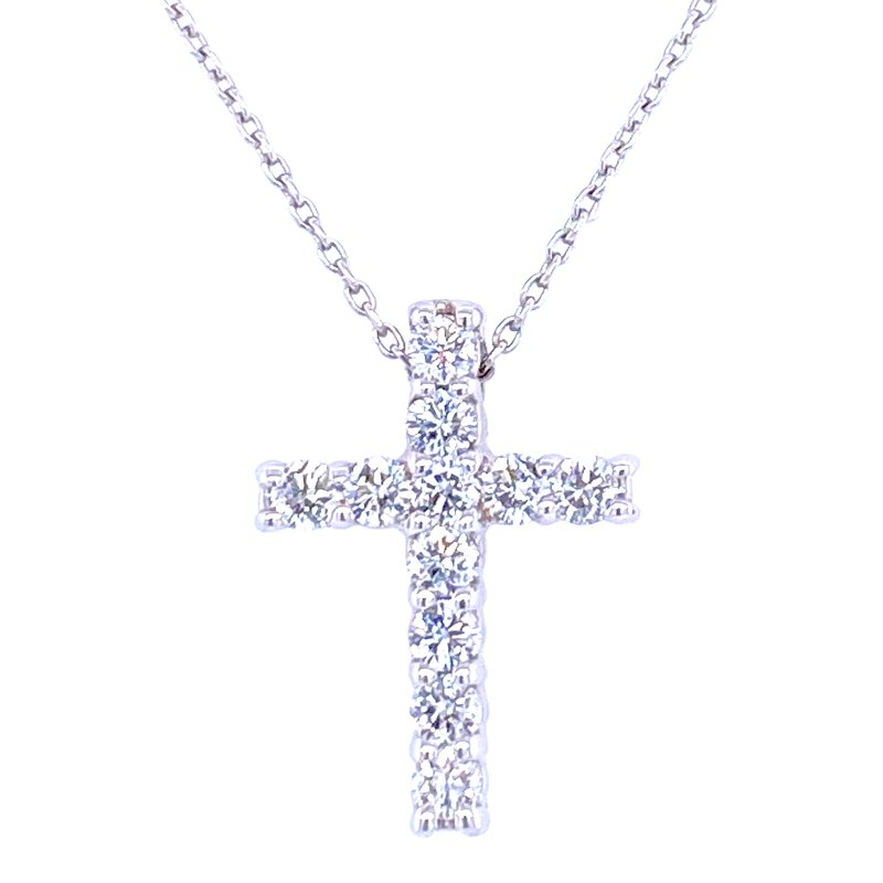 David Harvey Everyday Collection 14KW 0.48ctw Diamond Cross