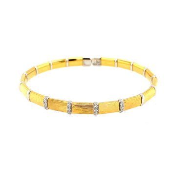 Firenze Vermeil and Diamond Bracelet