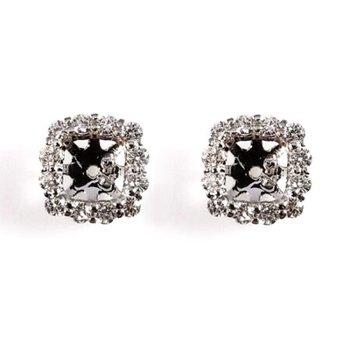 Diamond Cushion Shaped Earring Jackets