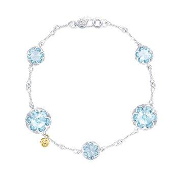 Sonoma Skies Multi Gem Sky Blue Topaz Chain Bracelet Sky Blue Topaz