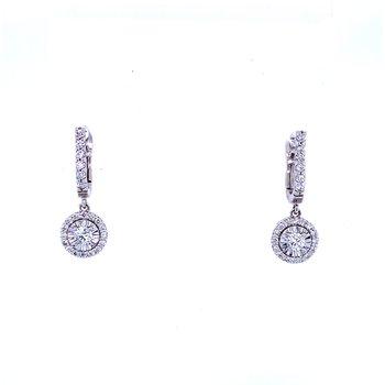 14KW 0.78ctw Diamond Drops