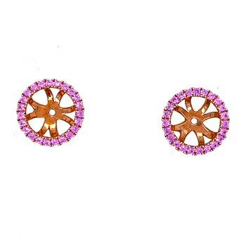 18KR Pink Sapphire Earring Jackets