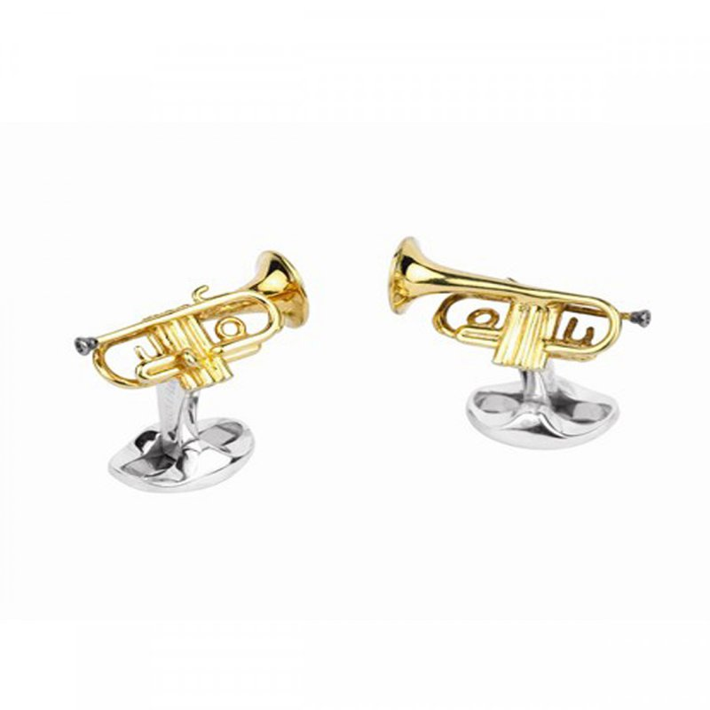 Deakin & Francis SS and Gold Plated Trumpet Cufflinks
