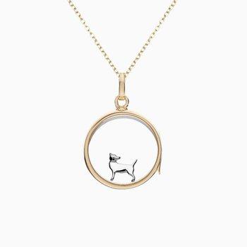 18K White Gold Chihuahua Charm