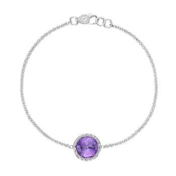 Crescent Embrace Amethyst Floating Bezel Bracelet