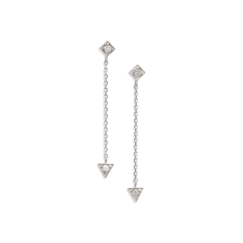 Anzie Cléo Mini Chain Earrings