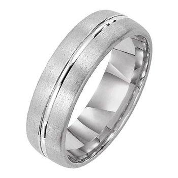 Men's 6mm wide comfort fit wedding ring