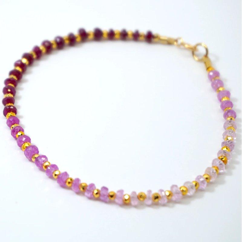 Mined and Found Kenzie One by One Ombré Ruby Bracelet