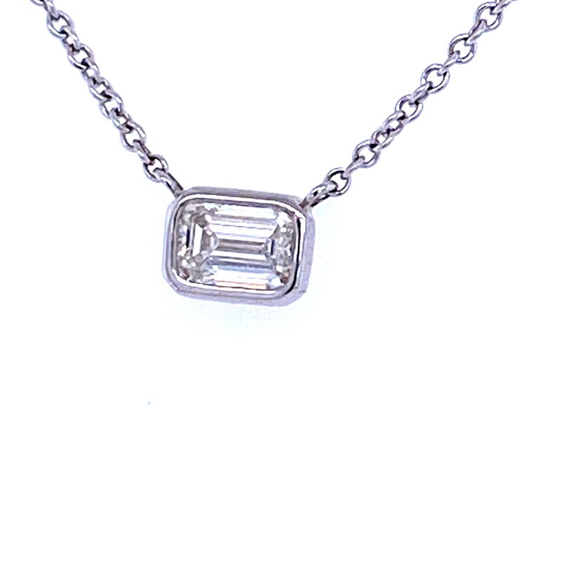 Forevermark 18KW 0.31ct Emerald Cut Diamond Solitaire