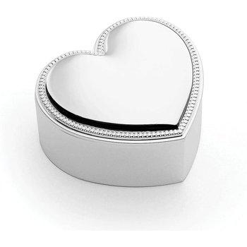 Precious Heart Silver Plate Covered Box