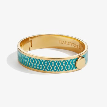 Parterre Turquoise and Gold Bangle