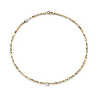 "18KT ""EKA Tiny Collection"" Diamond Pave Necklace"