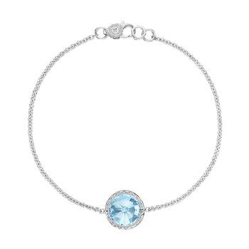 Crescent Embrace Sky Blue Topaz Floating Bezel Bracelet