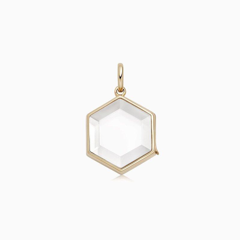 Loquet London 14K Yellow Gold Hexagonal Locket