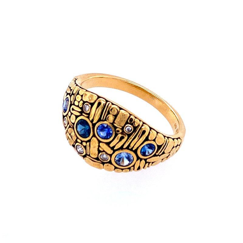 """Alex Sepkus Sapphire & Diamond """"Curious"""" Ring"""