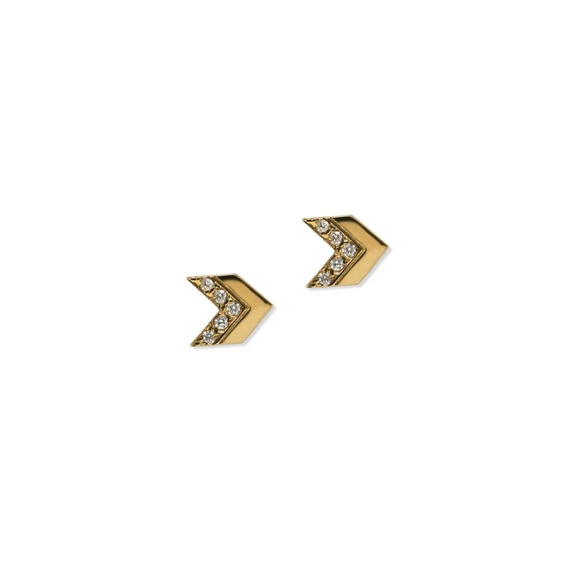 Anzie Jac+Jo Arrow Pavé Chevron Studs