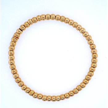 18k Yellow Gold 4mm Bead Bracelet