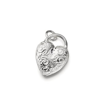 SS Floral Heart Charm