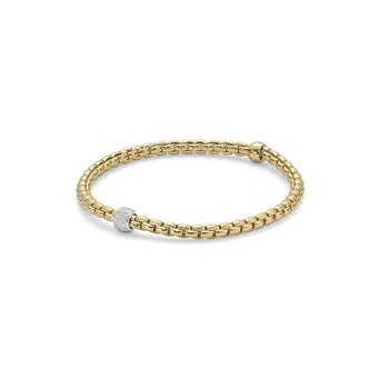 "18KT ""EKA Tiny Collection"" Diamond Pave Flex Bracelet"