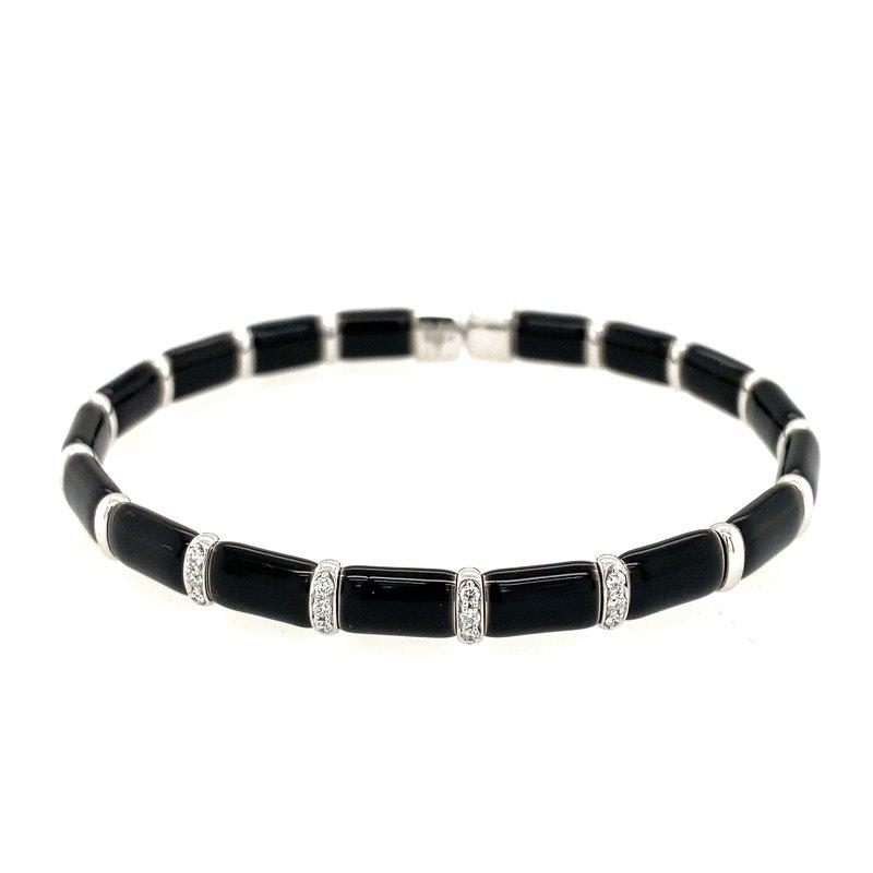 Henderson Collection Firenze Black Enamel and Diamond Bracelet