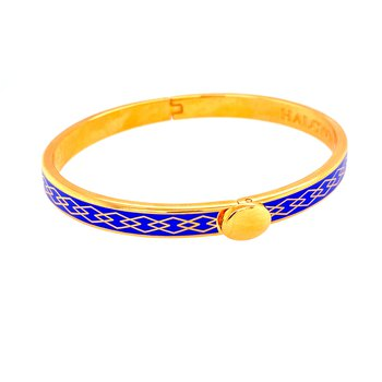 6mm GP Cobalt Enamel Parterre Bangle
