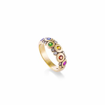 "Rainbow ""Candy"" Dome Ring"