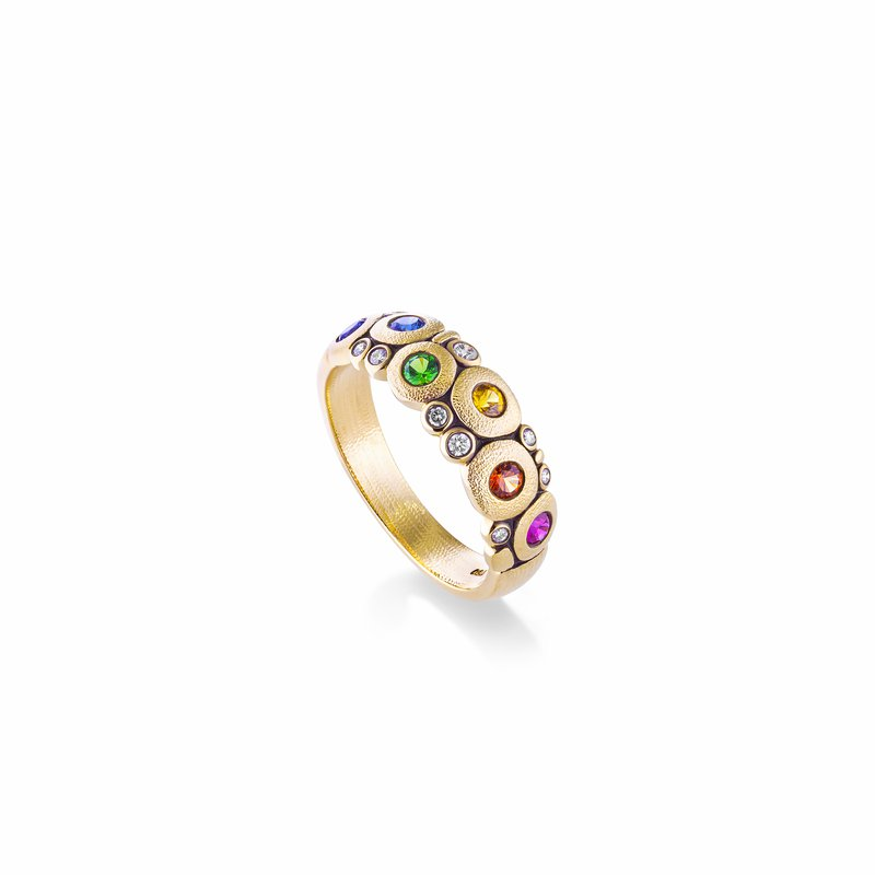 "Alex Sepkus Rainbow ""Candy"" Dome Ring"
