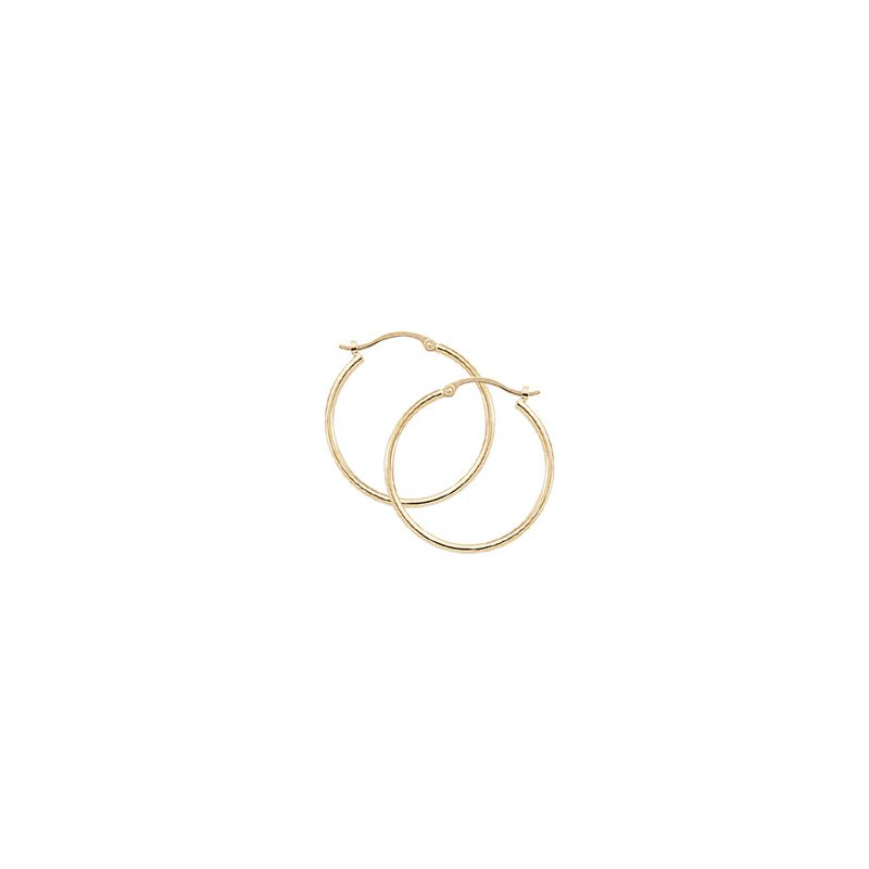 David Harvey Everyday Collection 14K Yellow Gold 20mm Tube Hoops